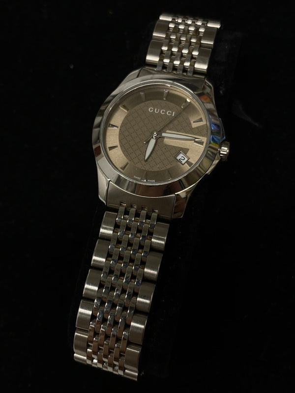 Gucci Lady's Stainless Steel Quartz Battery Watch $3K Value w/ CoA