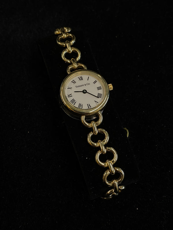 Tiffany & Co. Lady's 14K Solid Gold Battery Quartz Watch $12K Value w/ CoA