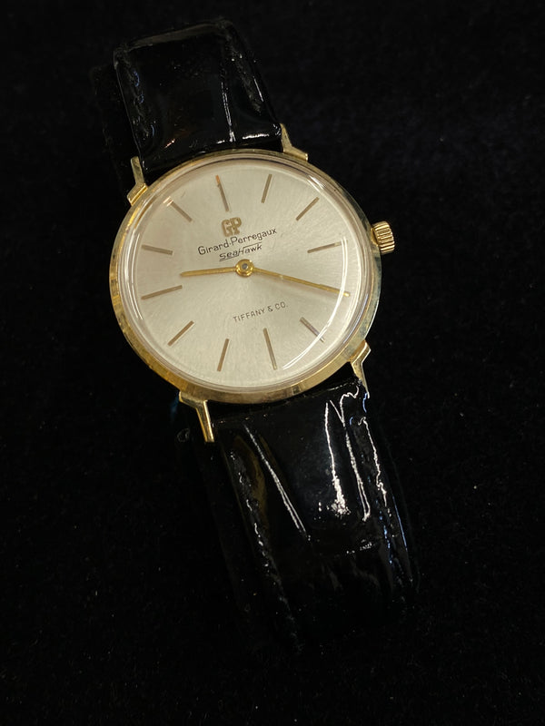 Girard Perregaux for Tiffany & Co Seahawk 14KYG 1950s Dressy Sporty Mechanical Watch $20K Value w/ CoA