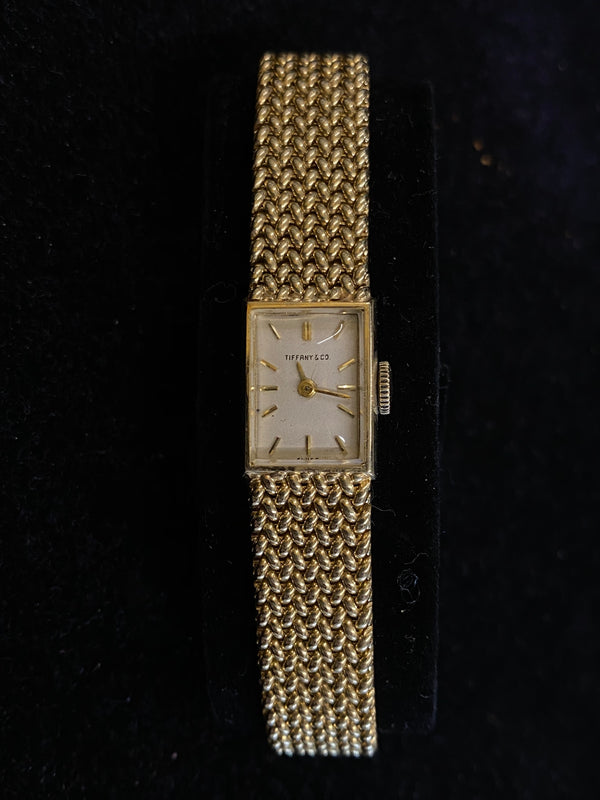 Tiffany & Co 14K Yellow Gold Mechanical 1950s Lady's Dress Watch $20K Value w/ CoA