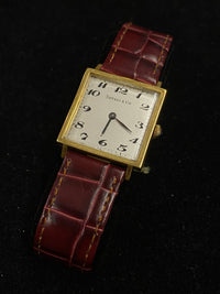 Tiffany & Co. 18KYG Square 1930s Mechanical Tank Watch $16K Value w/ CoA