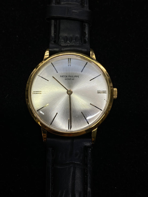 Patek Philippe 18K Yellow Gold Mechanical Men's Watch 1960s Perfect Condition Ref#3468 - $40K Value w/ CoA