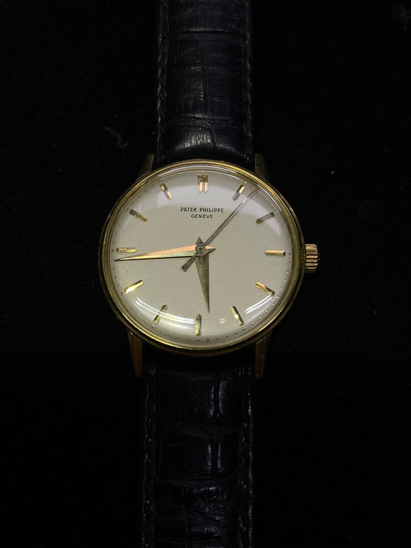 Patek Philippe 18K Yellow Gold Thick Case 1960 Mechanical Men's Watch Ref#3411 - $50K Value w/ CoA