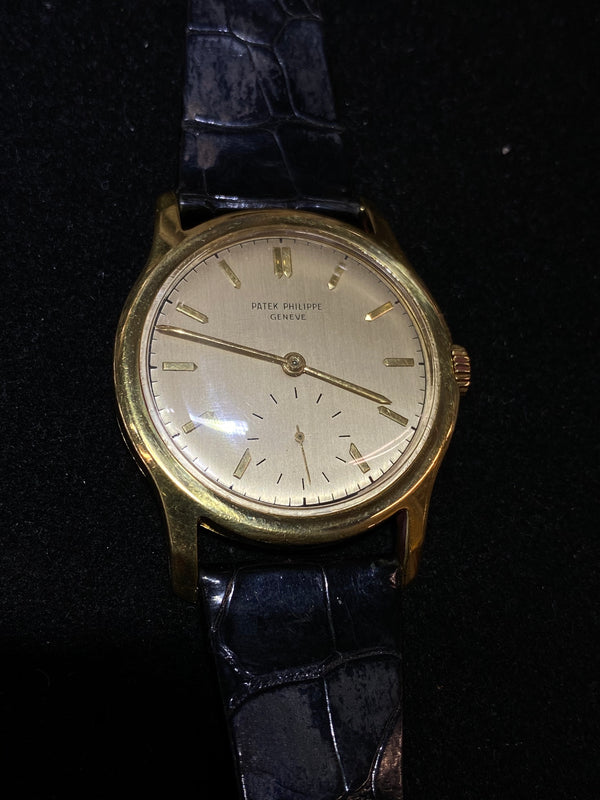 PATEK PHILIPPE 18K Yellow Gold Thick Case 1940s Mechanical Men's Watch Ref#2448 - $50K Value w/ CoA