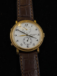 Patek Philippe 18KYG 3 Time Features Mechanical Watch Ref#5034 - $50K Value w/ CoA