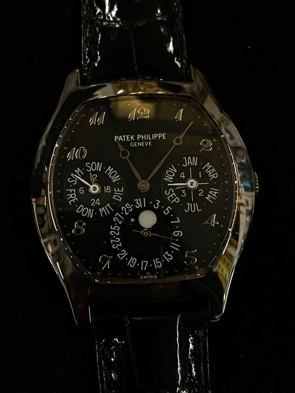 PATEK PHILIPPE Perpetual Calendar 18K White Gold Watch w/ Skeleton Back Ref. #5041 - $200K Appraisal Value! ✓