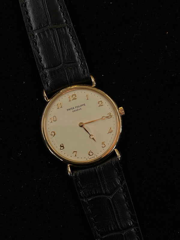 PATEK PHILIPPE 18K Rose Gold Mechanical Men's Mechanical Watch Ref. #3820 - $50K Appraisal Value! ✓