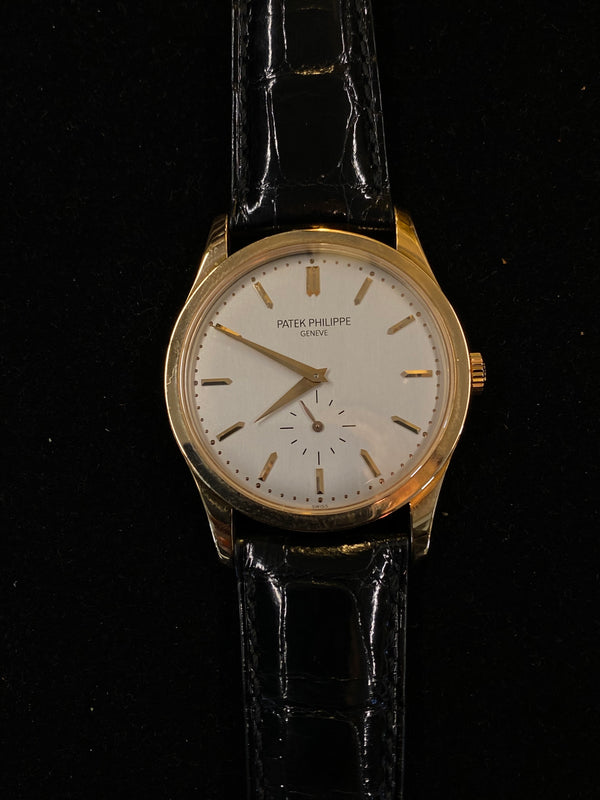 PATEK PHILIPPE Calatrava Ref. 5196 18K YG Men's Mechanical Watch - $50K Appraisal Value! ✓