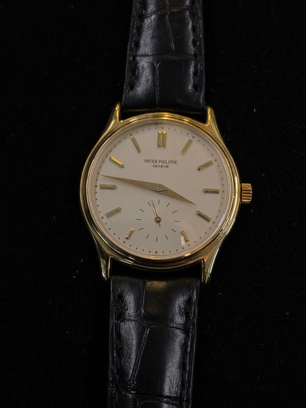 PATEK PHILIPPE Early Edition 1980's Calatrava 18K YG Ref. #3923 - $50K Appraisal Value! ✓