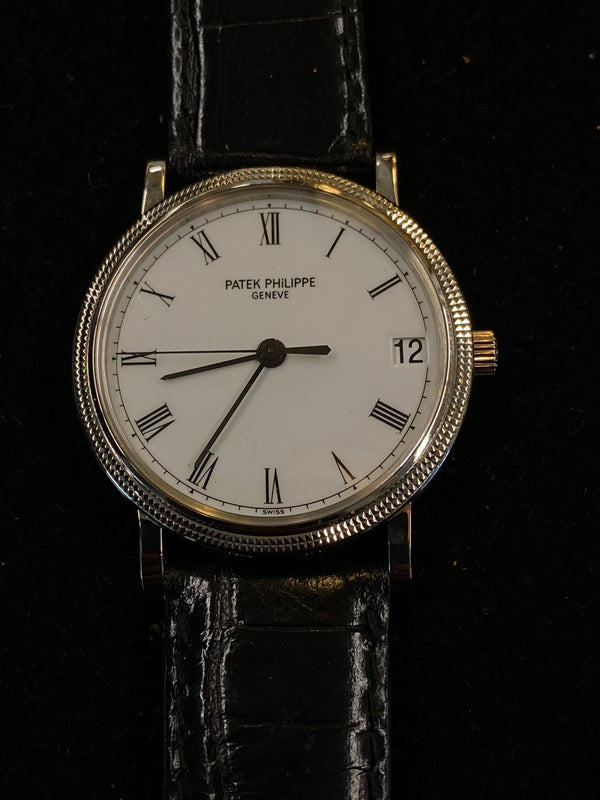 PATEK PHILIPPE Rare Calatrava Limited Edition of Only 200! 18K WG Men's Watch Ref. 3802 - $50K Appraisal Value! ✓