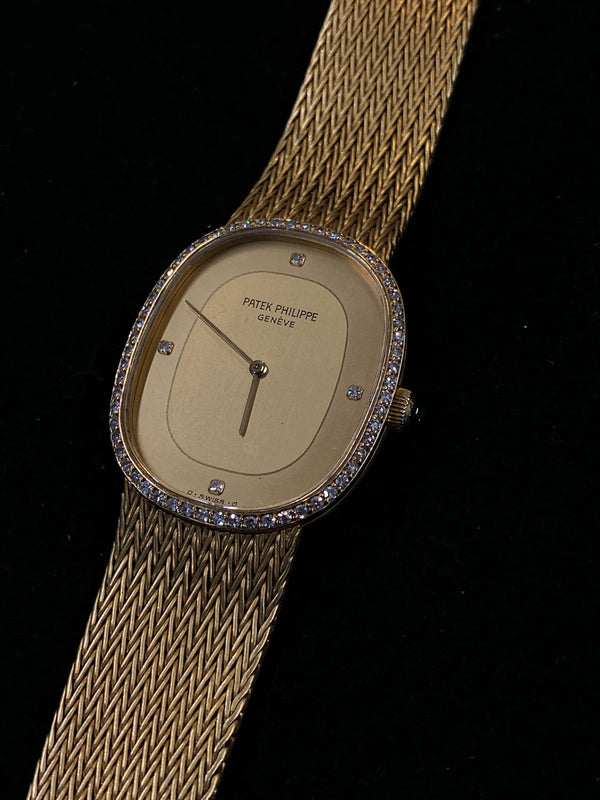 PATEK PHILIPPE Ellipse 18K Yellow Gold Men's Mechanical Ref. 3849/9 Bracelet Watch - $60K Appraisal Value! ✓
