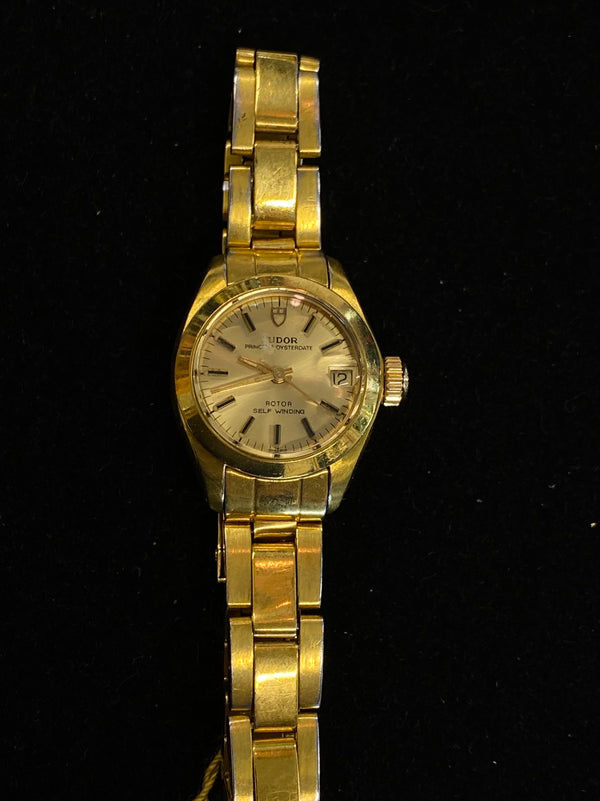 TUDOR / ROLEX Amazing Ladies Oyster Perpetual Gold Tone Watch - $10K Appraisal Value! ✓