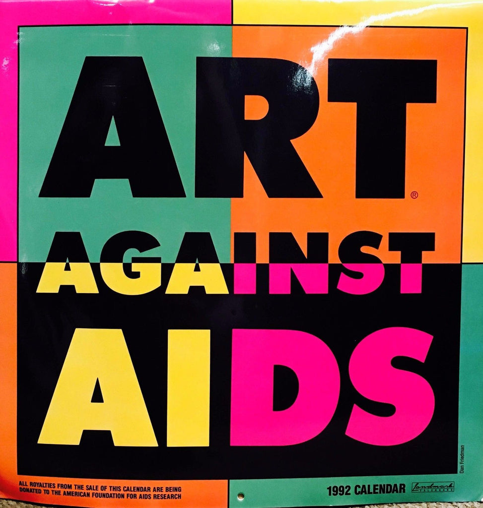 Art Against AIDS Calendar for 1992 First Charity Campaign vs. AIDS - $10K VALUE