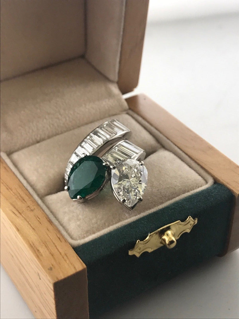 MARCHAK Paris Incredible 11 Ct. Diamond and Emerald Ring on Platinum - $215K VALUE w/ GAL Cert.!