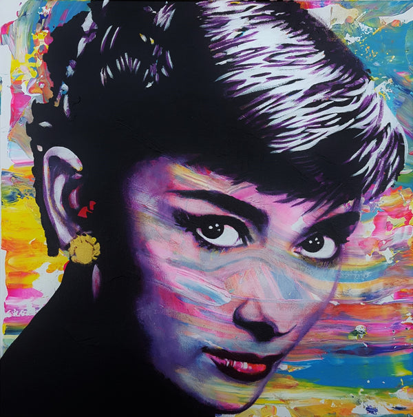 Jack Graves III, 'Audrey Hepburn Icon VII', Icon Series 2019 - Apr Value: $1.6K*
