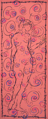 "SHLOMO AVITAL ""Untitled"" (Female Nude), Silkscreen(s) in Red, Blue and Yellow - $6K Value!*"