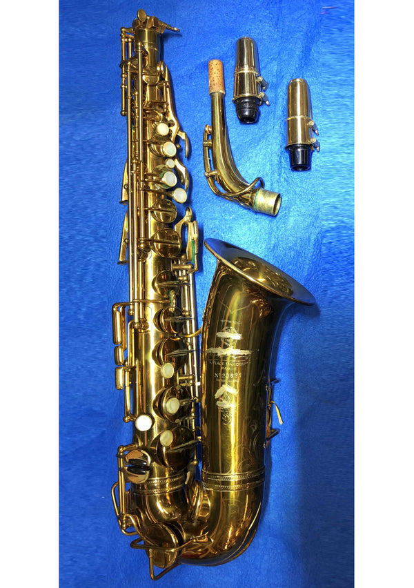 RARE Vintage 1935 Henri Selmer Paris Radio Improved Alto Saxophone w/Vintage Soloist Scroll Short Shank C* Mouthpiece and Custom Case- $8K VALUE