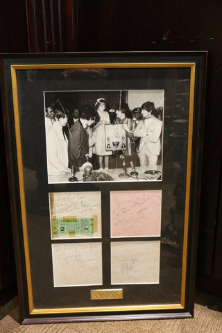 Beatles Live at Convention Hall Vintage Photograph, Autographs & Ticket Stub - $80K VALUE