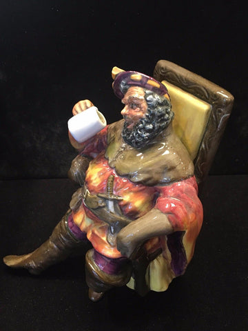 "Royal Douton 1954 Collectible Ceramic Figurine ""The Foaming Quart"" - $1K VALUE"