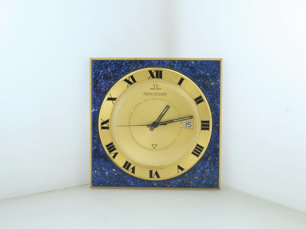 Rare Jaeger-LeCoultre Memovox Lapis Travel Alarm Clock 17J C.1960s - $10K VALUE