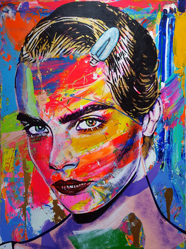 Jack Graves III, 'Cara Delevingne Icon IX', Icon Series 2019 - Apr Value: $5K*