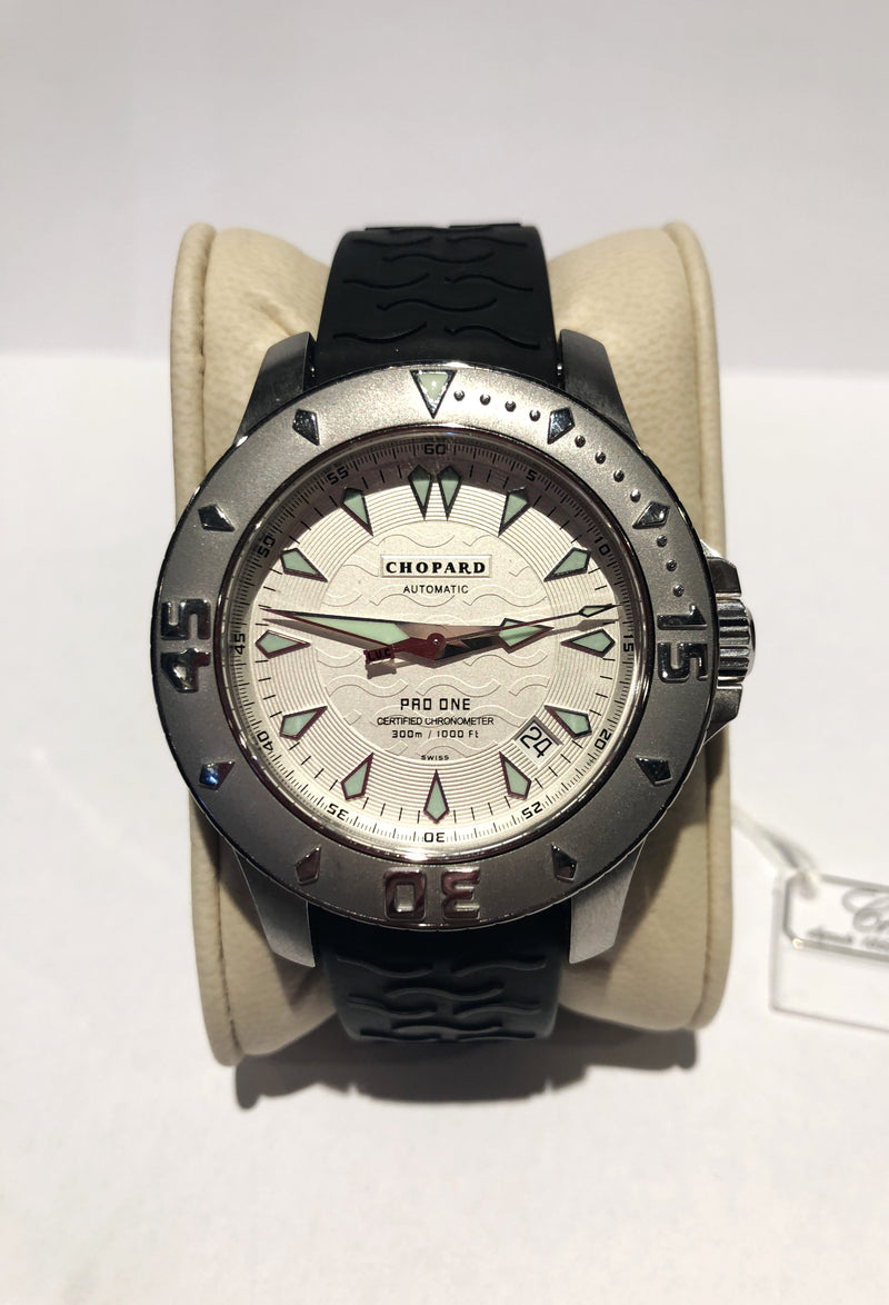 CHOPARD L.U.C Pro One Stainless Steel Men's Diver's Watch, #8912 - $15K VALUE!