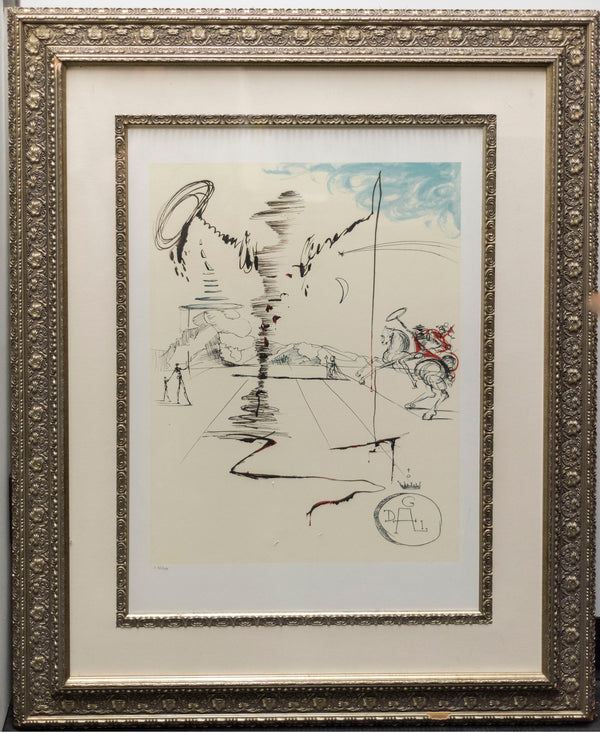 SALVADOR DALI (After), 'Chevalier,' Offset Lithograph Print (Ltd Edition: 43/500), 2006 - $6K Appraisal Value w/CoA @*