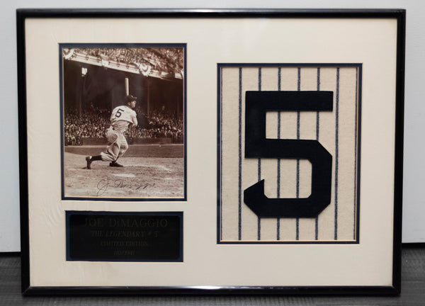 JOE DIMAGGIO- limited edition autographed memorabilia - w/ COA- $3k APR!! @