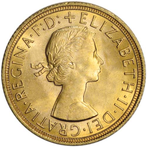 Great Britain Gold Sovereign Coin – Old Queen Elizabeth II