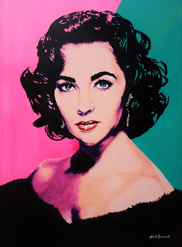 Jack Graves III, 'Elizabeth Taylor Icon V', Icon Series 2020 - Apr Value: $5K*