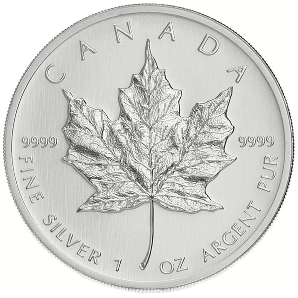 1 oz Canadian Silver Maple Leaf Coin (Random Year)