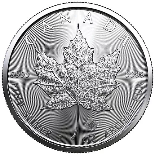 2020 1 oz Canadian Silver Maple Leaf Coin (BU)
