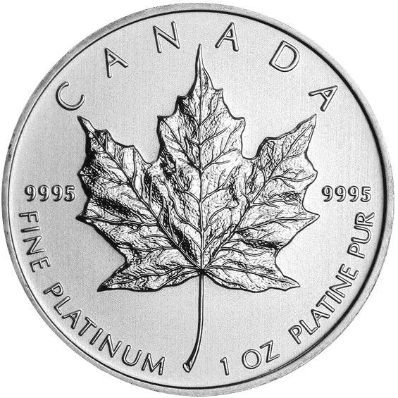 1 oz Canadian Platinum Maple Leaf Coin (Random Year)