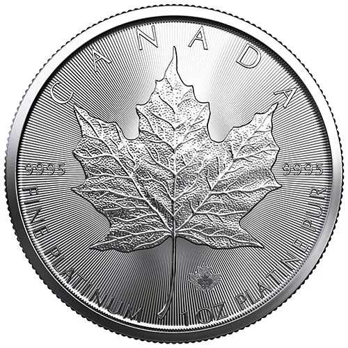 2020 1 oz Canadian Platinum Maple Leaf Coin (BU)