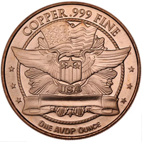 1 oz Capped Bust Half Dollar Copper Round (New)