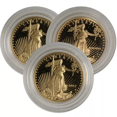 1/4 oz Proof American Gold Eagles (Random Year, Capsules Only)