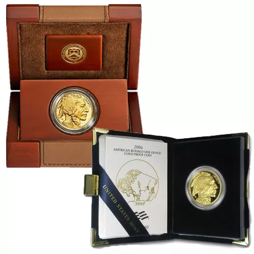 1 oz Proof American Gold Buffalo (Random Year, Box + CoA)