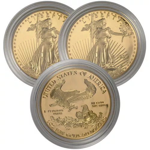 1 oz Proof American Gold Eagles (Random Year, Capsules Only)