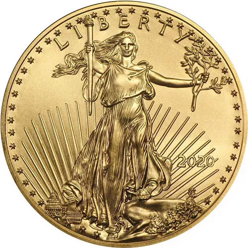 assorted modern dates1/2 oz American Gold Eagle Coin (BU)