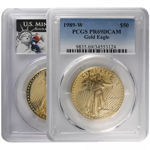 1 oz Proof American Gold Eagle Coin PCGS PR69 DCAM (Random Year)
