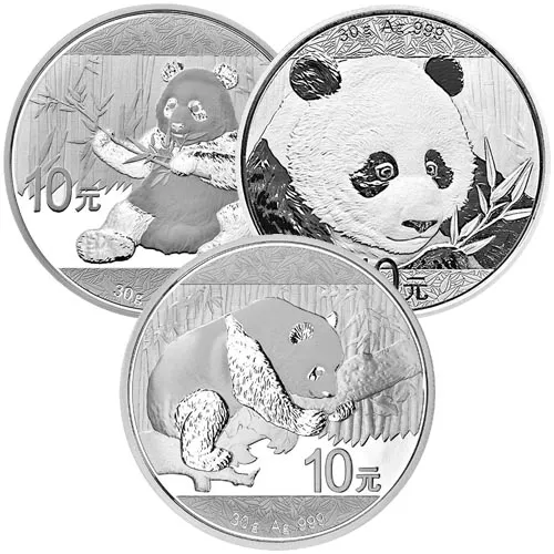 30 Gram Chinese Silver Panda Coin (Random Year, Varied Condition)