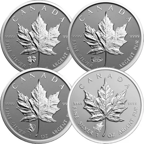 1 oz Canadian Silver Maple Leaf Coin (Varied Privy, Random Year, BU)