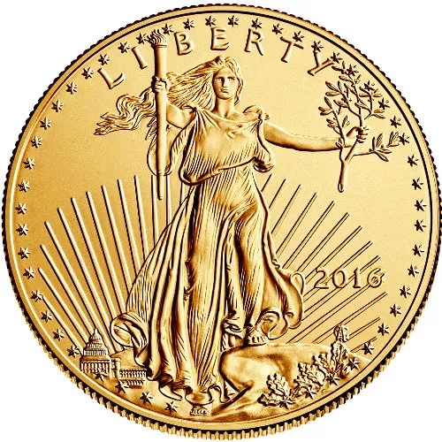 1/2 oz American Gold Eagle Coin (Random Year, BU)