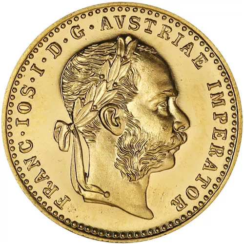 1915 1 Ducat Austrian/Dutch Gold Coin (AU+, Restrikes)