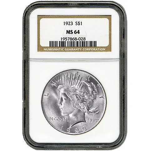 Peace Silver Dollar Coin NGC MS64 (1922-26, 1934-35)