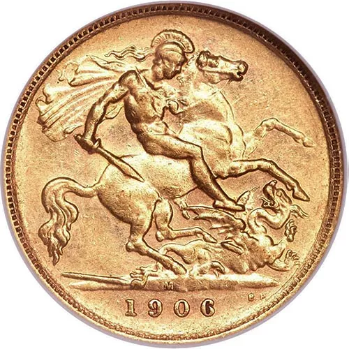 Great Britain Gold 1/2 Sovereign – Old English