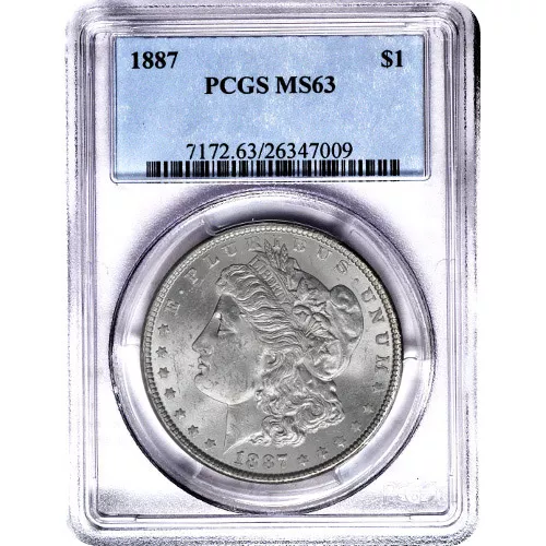 Morgan Silver Dollar Coin PCGS MS63 (1878-1904)