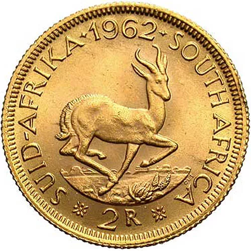 2 Rand South African Gold Coin (AU)