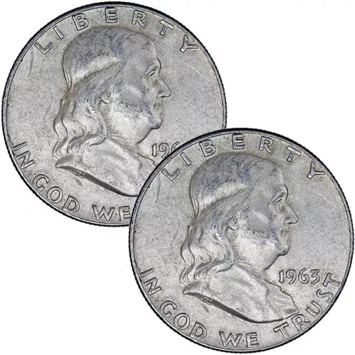 90% Silver US Franklin Half Dollars ($1 FV)