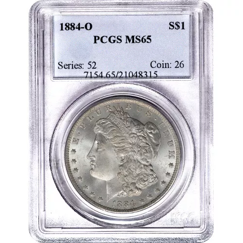 Morgan Silver Dollar Coin PCGS MS65 (1878-1904)